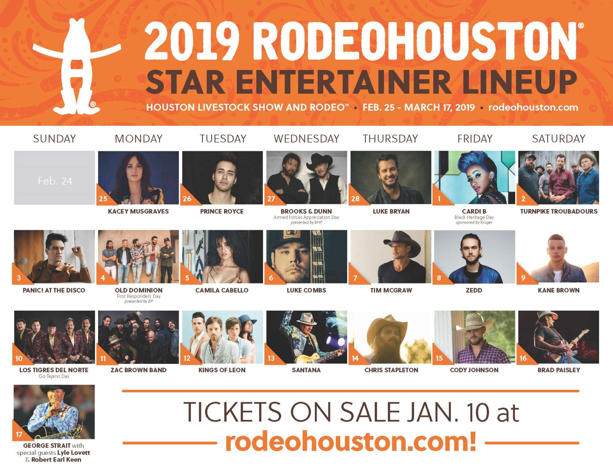 2019 Rodeo Lineup