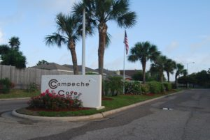 Campeche Cove entrance