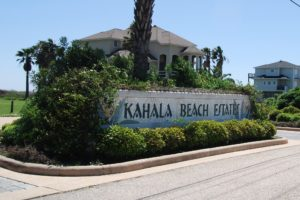 Kahala Beach Estates entrance