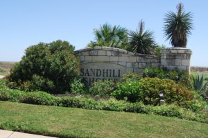 Sandhill Shores entrance