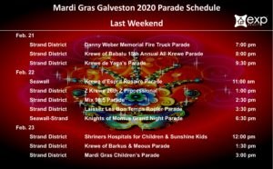 Mardi Gras Last Weekend parade schedule