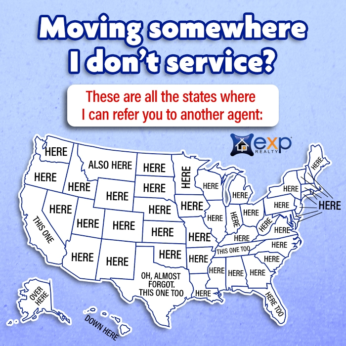 List of states and countries I can refer agents in